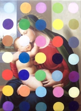 Madonna and Child with Spots ( after Francesco Granacci and Damien Hirst) 2010, oil on canvas, 50.8 x 68.6 cm