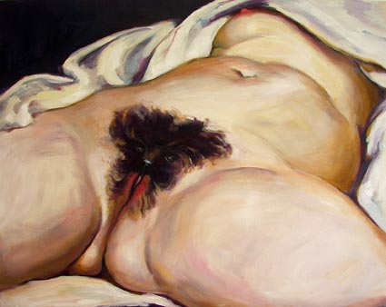 Cash Brown, A Mutt, 2008,  oil on canvas, 50 x 60 cm