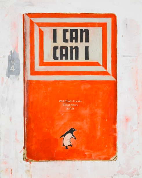 Harland Miller I Can Can I, 2014 watercolour on paper 152 x 121.5 cm Ingleby Gallery - Edinburgh