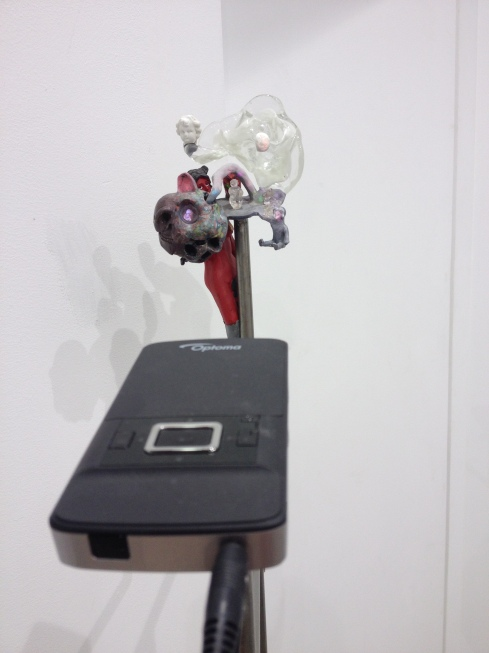 Tony Oursler - a brilliant use of micro projector