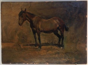 Oil painting before treatment